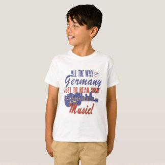 Hear Nashville Music from Germany Kid's T-Shirt
