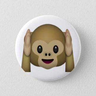 Hear No Evil Monkey - Emoji 6 Cm Round Badge