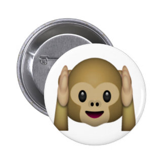 Hear No Evil Monkey - Emoji 6 Cm Round Badge