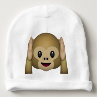 Hear No Evil Monkey - Emoji Baby Beanie