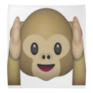 Hear No Evil Monkey - Emoji Bandana