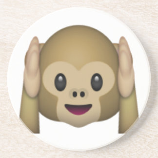 Hear No Evil Monkey - Emoji Coaster