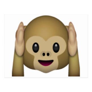 Hear No Evil Monkey - Emoji Postcard