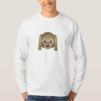 Hear No Evil Monkey Emoji T-Shirt