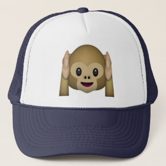 Hear No Evil Monkey - Emoji Trucker Hat