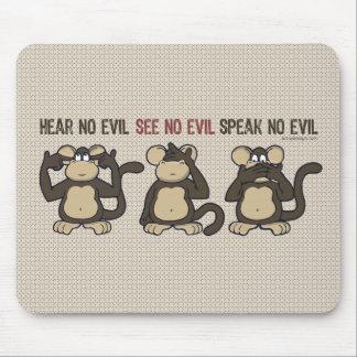 Hear No Evil Monkeys - New Mouse Pad
