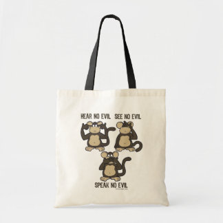 Hear No Evil Monkeys - New Tote Bag