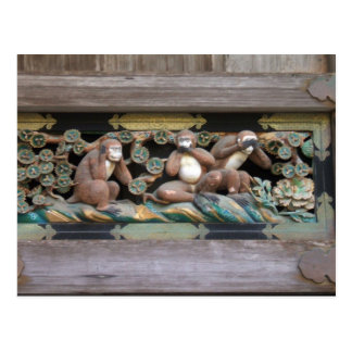 Hear no evil, see no evil, say no evil postcard
