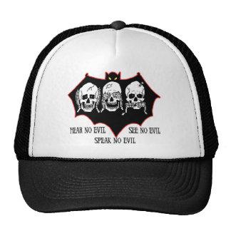 Hear no evil, see no evil, speak no evil Hat Mesh Hat
