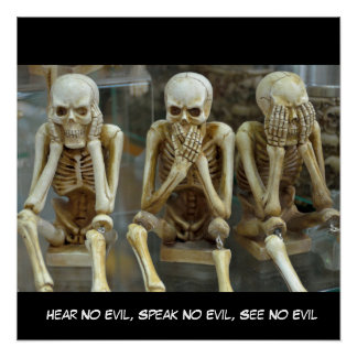 Hear No Evil, Speak No Evil, See No Evil Skeletons