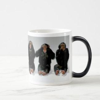 Hear no evilSee no evilspeak no evil Magic Mug
