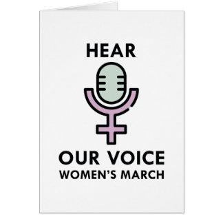 Hear Our Voice Card