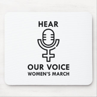 Hear Our Voice Mouse Pad