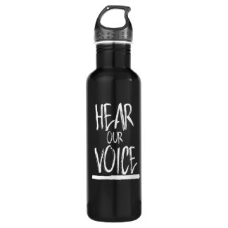 Hear Our Voice --  white - 710 Ml Water Bottle