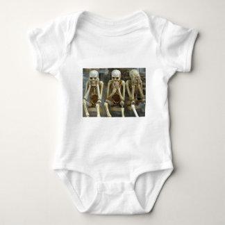 Hear, Speak, See No Evil Skeletons Baby Bodysuit