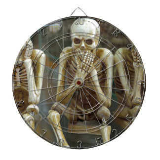 Hear, Speak, See No Evil Skeletons Dartboard