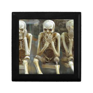 Hear, Speak, See No Evil Skeletons Gift Box