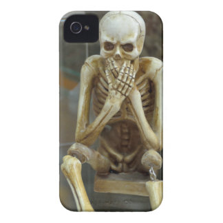 Hear, Speak, See No Evil Skeletons iPhone 4 Case-Mate Cases