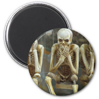 Hear, Speak, See No Evil Skeletons Magnet