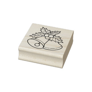 Hear The Bells Christmas Rubber Stamp