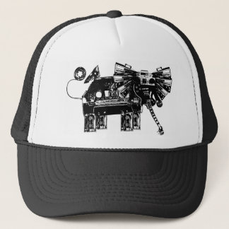 hear the elephants trucker hat