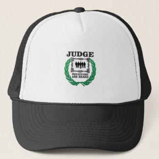 hear two side of issue trucker hat