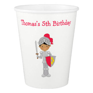 Hear Ye African American Knight Paper Cup