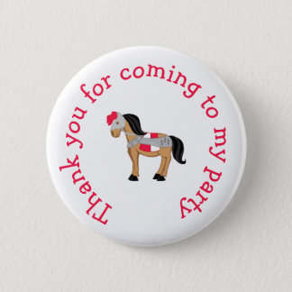 Hear Ye Blonde Cute Knight 'Thank you for coming' 6 Cm Round Badge
