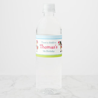 Hear Ye Blonde Cute Knight Water Bottle Label