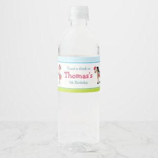 Hear Ye Brunette Knight Water Bottle Label