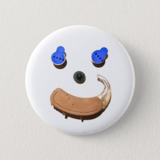 Hearing = Happier + Healthier 6 Cm Round Badge