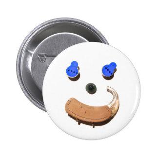 Hearing = Happier + Healthier 6 Cm Round Badge