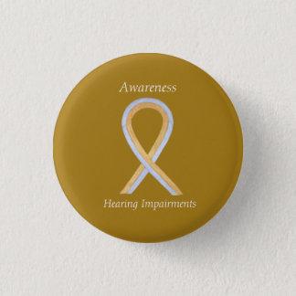 Hearing Impairments Awareness Ribbon Angel Pin