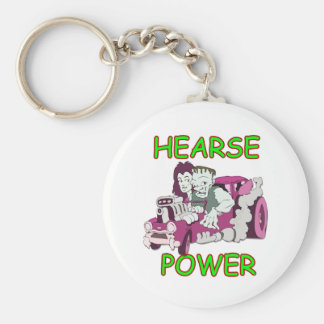 Hearse Power Basic Round Button Key Ring