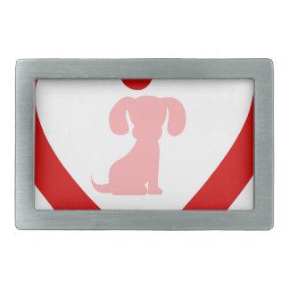 heart11 rectangular belt buckles