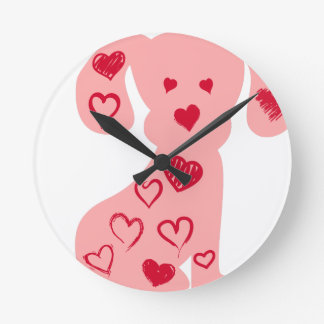 heart13 round clock