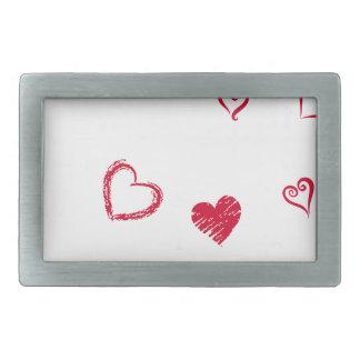 heart14 rectangular belt buckle