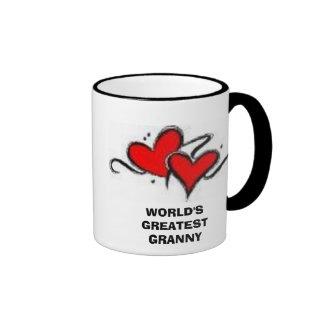 heart#1, WORLD'S GREATEST GRANNY Ringer Mug