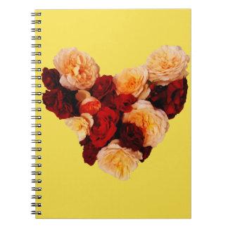 Heart #3 spiral notebook