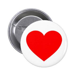 Heart 6 Cm Round Badge