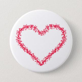 Heart 7.5 Cm Round Badge