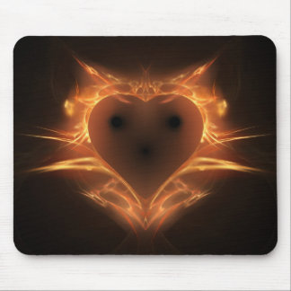 Heart a Fire Mouse Pad