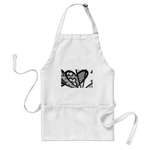 heart abstract art aprons