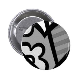 heart abstract art button
