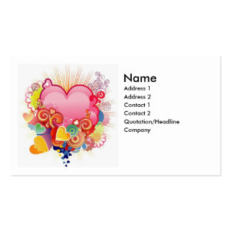 Heart abstract business card