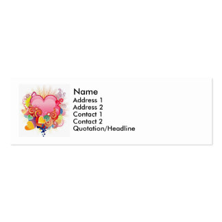 Heart abstract business card template