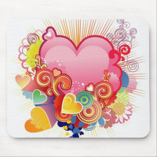 Heart abstract mousepads
