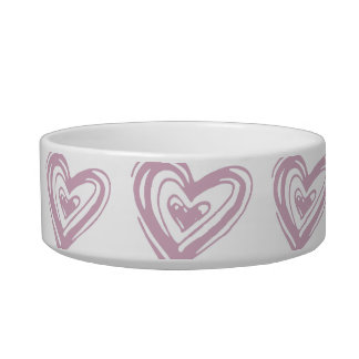 Heart Abstract Pet Bowl