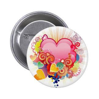 Heart abstract pin