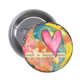 heart abstract pin button